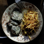 Black pepper steak and cognac cream sauce