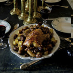 Roast guinea fowl with chestnuts