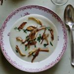 Jerusalem artichoke soup (topinambours)