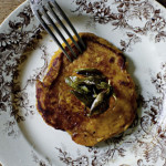 Butternit pancakes with sage beurre noisette