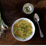 Chicken bouillon with tapioca and mint