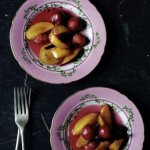 Cherries & peaches papillotes